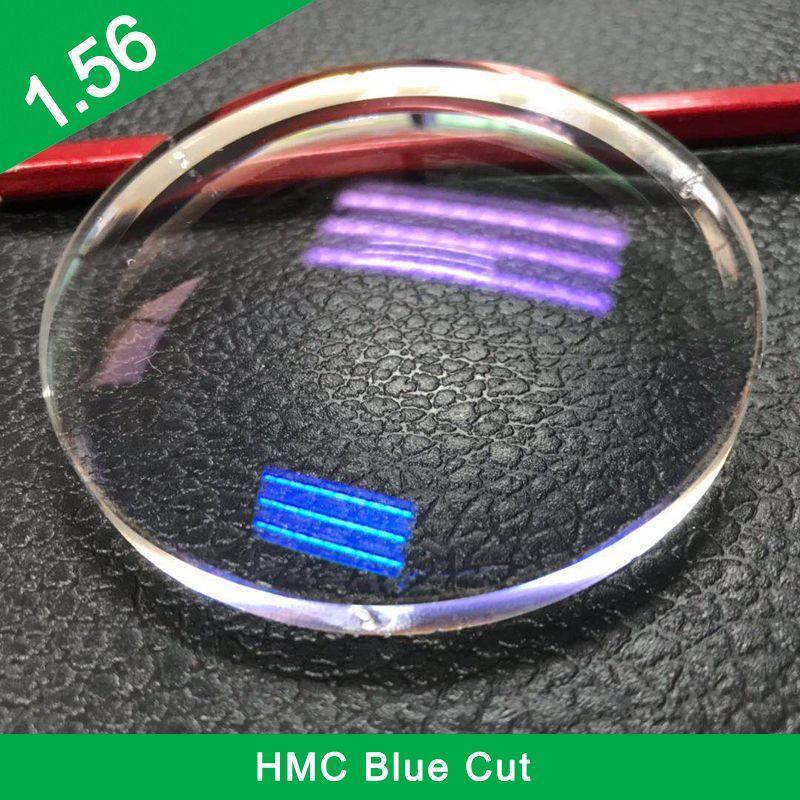 Prix bas d'usine 1.56 lentille optique HMC à vision unique coupe bleue