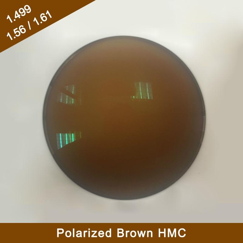 Finished 1.56 Single Vision Polarized Brown HMC Sunglasses Optical Lenses