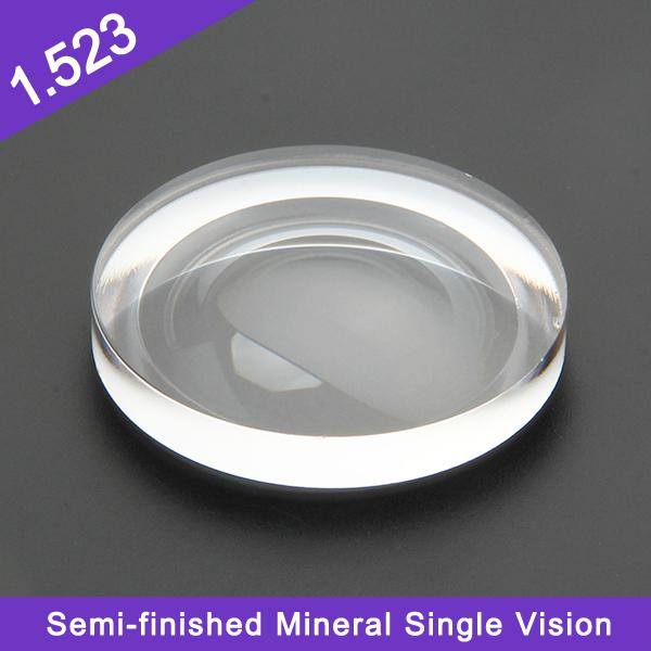 مخزون سعر جيد نصف تشطيب 1.523 عدسة بصرية معدنية أحادية الرؤية