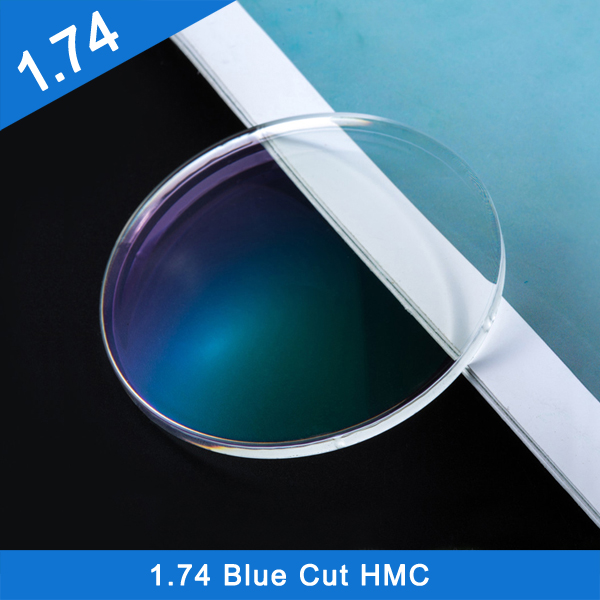 Wholesale high quality 1.74 Blue Cut UV420 Hmc Optical Lens