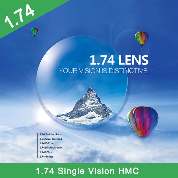 Usine en gros fini 1.74 lentille optique polarisée HMC + EMI à vision unique