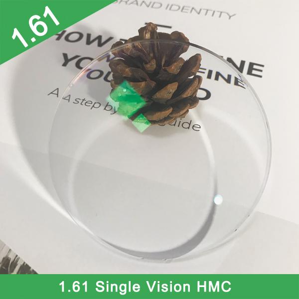 Lentille optique asphérique HMC + EMI 1.61 populaire finie / semi-finie