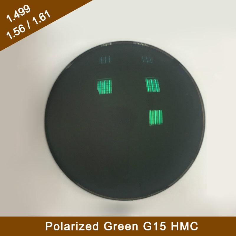 1.61 Polarized G15 Green hmc Eyeglass Optical Lenses