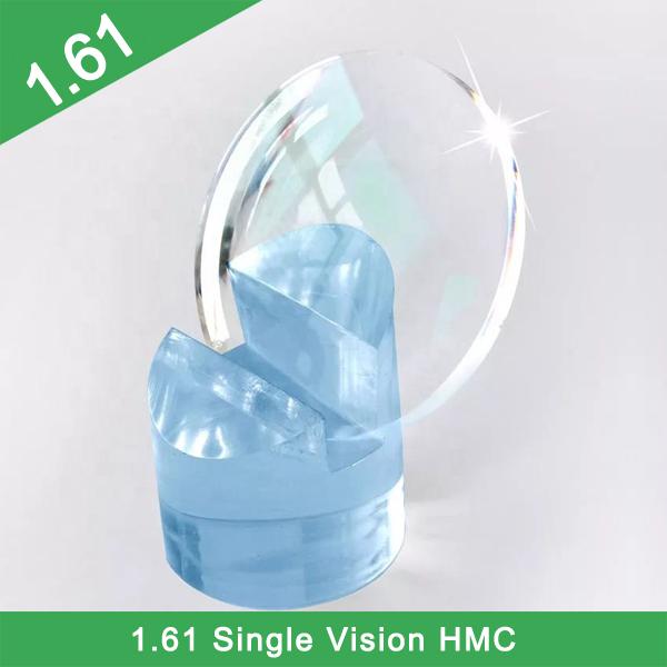 Vente directe d'usine à bas prix 1.61 lentilles optiques à vision unique photochromiques à indice élevé HMC