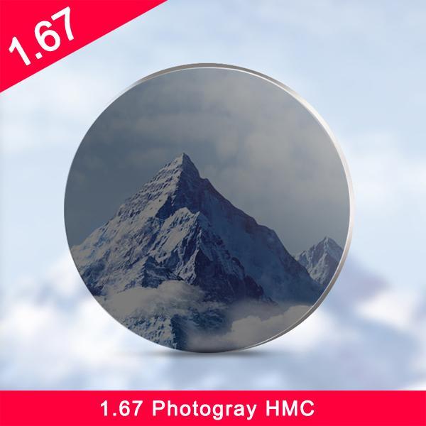 1.67 الفوتوكرومية / انتقال عدسة بصرية سوبر HMC مسعور