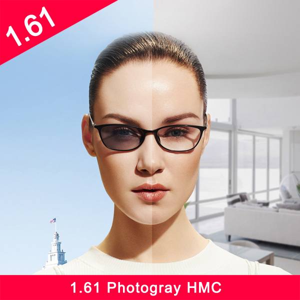 عدسة بلاستيكية احترافية 1.61 hmc عدسة بصرية ضوئية