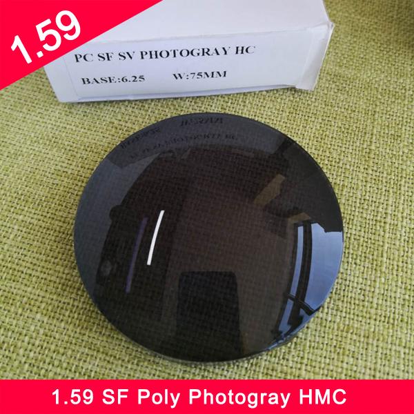 الجملة 1.59 البولي رؤية واحدة عدسة Photogray HMC بصري