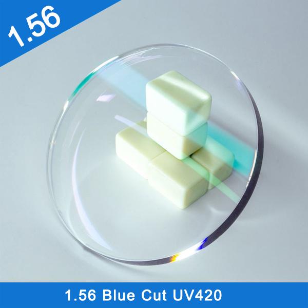 Factory Stock Finished & Semi-Finished 1.56 Single Vision Blue Cut UV420 HMC Optical Lens