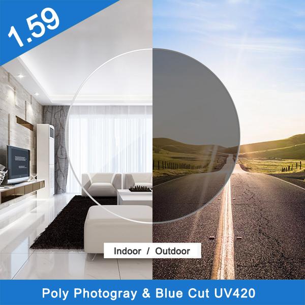 Wholesale 1.59 pc polycarbonate photochromic hmc optical lens