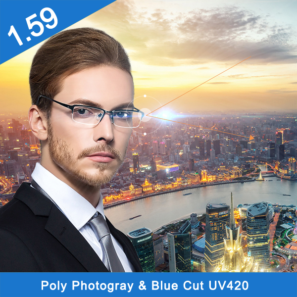 1.59 photo gray pc progressive hc optical lens