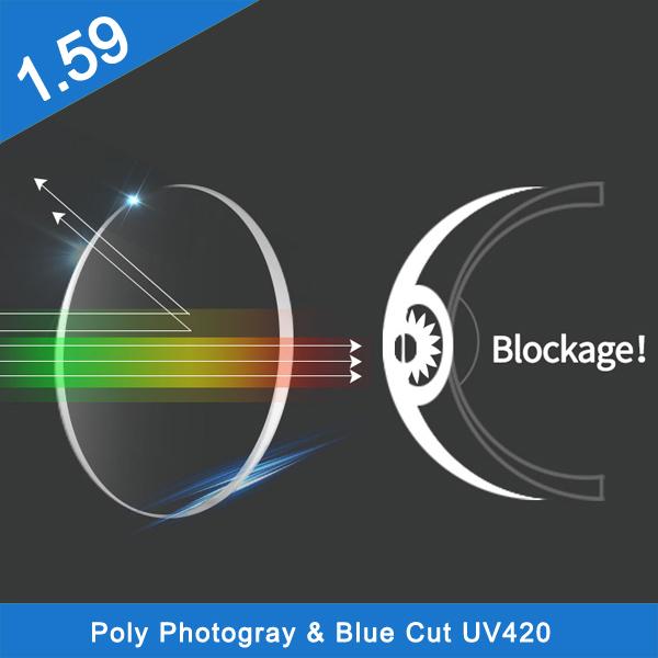 工場卸売価格1.59 PCプログレッシブポリカーボネートHMC光学レンズ