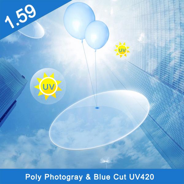ポリフォトクロミックブルーカットSV HMC(新製品)