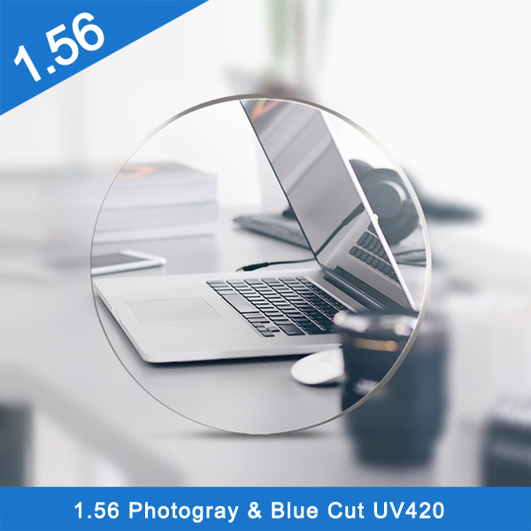 High quality 1.56 single vision different size pgx hmc ar glass lens