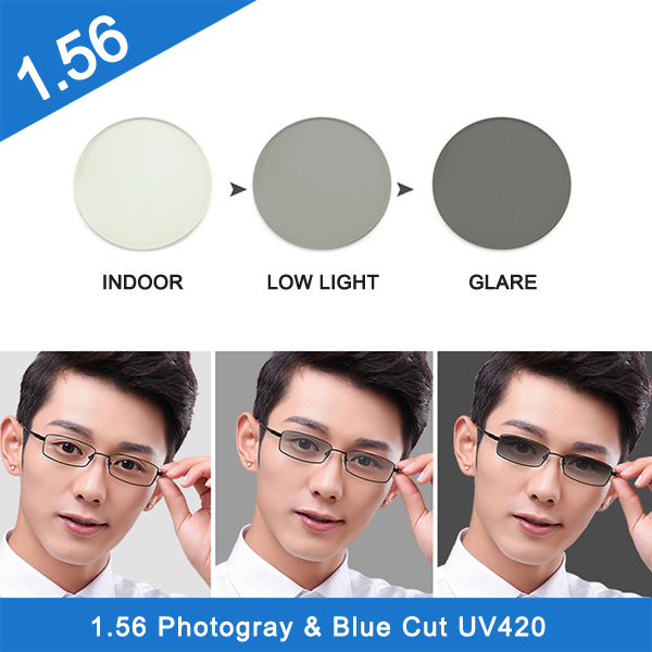 2019 popular photochromic nk 55 resin lenses for driving
