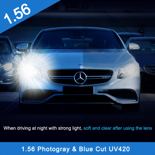 1.56 Photochromic Blue Cut SV HMC (Finished & Semi-Finished)