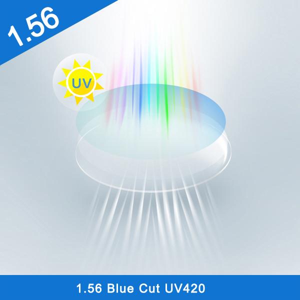 الصين مصنع تشطيب ونصف تشطيب 1.56 UV420 Blue Light Blocker عدسة بصرية