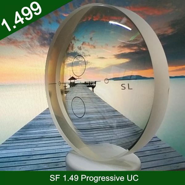 卸売業半完成1.49樹脂プラスチックプログレッシブHCクロスボウデザイン廊下目光学レンズ