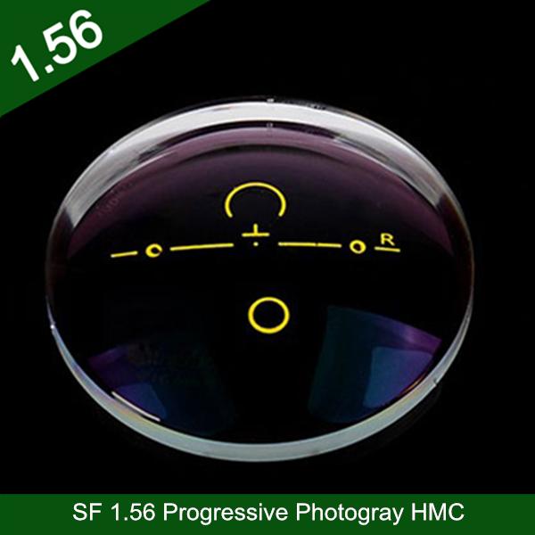 卸売業半製品1.56樹脂プラスチックプログレッシブPhotogay HMCクロスボウプレビュー廊下光学アイレンズ