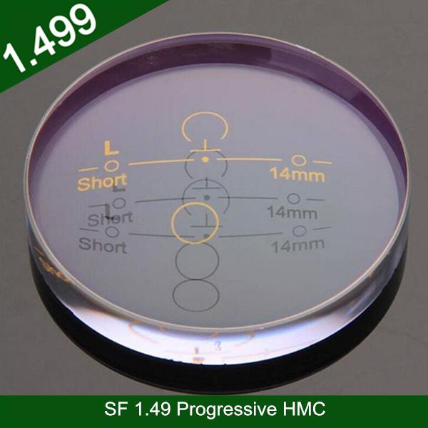 卸売半製品1.49樹脂プラスチックプログレッシブHMC光学アイレンズ