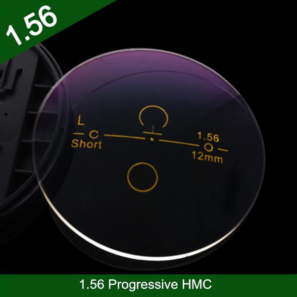 卸売業1.56樹脂プラスチックプログレッシブHMCクロスボウデザイン光学目レンズ