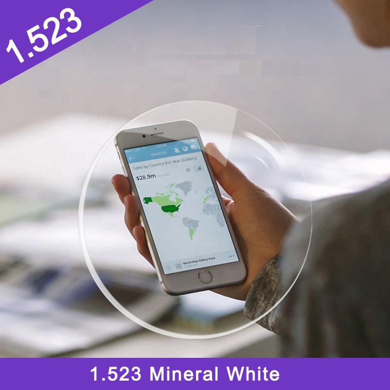 الصين سعر منخفض مصنع انتهى 1.523 عدسة بصرية بيضاء معدنية